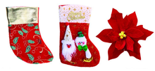 Christmas stocking with plush santus socks christmas toys
