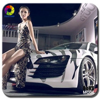 TSAUTOP ROHS certificate High stretchable Air Free bubbles SNOW white camouflage car wrapping foil