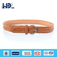 Hademade spring fashionble knitted braided belt