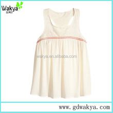 sleeveless casual summer blouse comfortable fabric ladies blouse wholesale&manufacturer