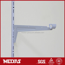 clothes display shelf bracket fix single slot upright