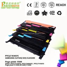 Color CLP-325 Toner Cartridge Compatible FOR SAMSUNG CLP320/325/CLX3285 (PTCLT-K407S)