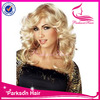 Wholesale fast delivery top quality 100%human hair 6Agrade blonde full lace / lace front costume wig