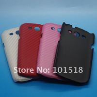 New mobile phone leather case for Samsung Galaxy S3 III i9300 Carbon style