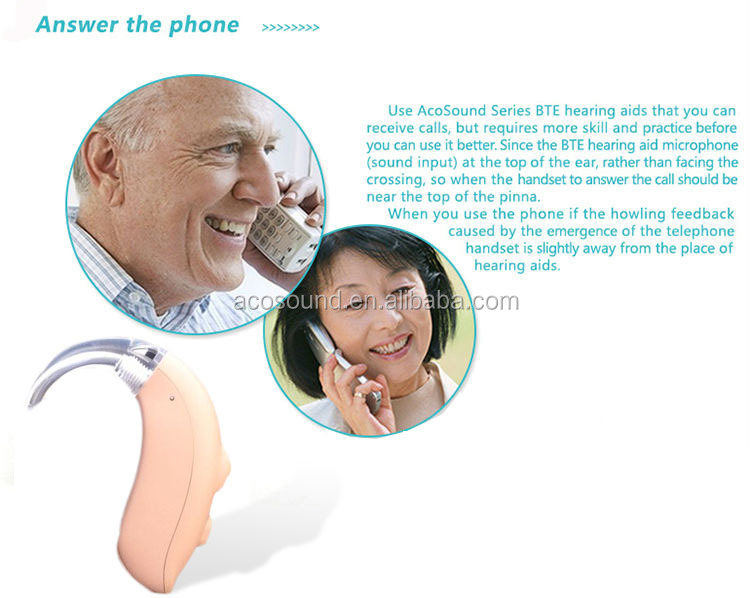 China AcoSound Acomate 420 BTE CE TUV ISO Proved Cheap Digital Hearing Aids