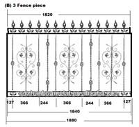 shandong garden fence/popular fence design