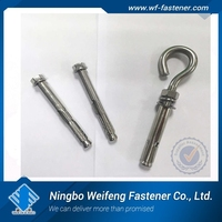 through bolt with nut and washer Stainless steel 316 China supplier export manufacturer anchor factory