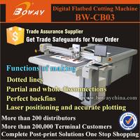 20 year laser position CNC sample paper cardboard box cutting machine