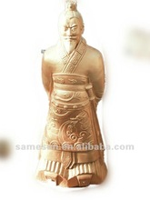 2012 hot sale large size golden figure statue for hotel decoration