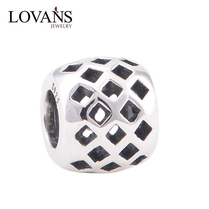 personnalisé en métal estampé charmes aqua perles bijoux yz046 brunissement