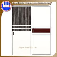 Modern style laminate bedroom wardrobe sliding wooden door