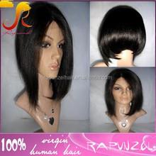 #1B Brazilian hair human hair short bob lace front wig