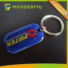 Custom Shaped Metal Enamel Printing Keychain Key Chain