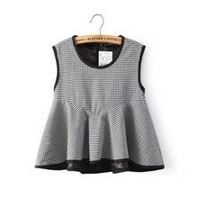 A318 Fashion high quality grid printed china t shirt factory price