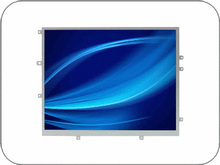 "9.7"" TFT LCD Monitor, LED Backlight, 600 nits, 1024x768"