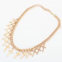 OU1940 Statement Chian Cross Fashion Lady's Necklace,2014 Trending Hot Dubai Accessory ,Imitation Jewelry,China Alibaba Supplier
