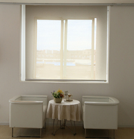 3% Openess white color Sunscreen roller blinds