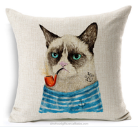 2015 china Wholesale Factory Directly of Fashion popular smoking cat and wolf pillow cases