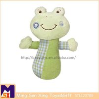 wholesale japanese green frog plush toy with musical