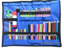folding roll up oxford color pencils stationary bag Big
