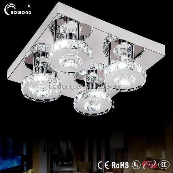 Lampada led soffitto di cristallo& lampada da soffitto a led e ...