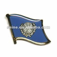United Nations Single flag label pin-16mm