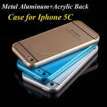 For iphone 5c case aluminum+acrylic metal bumper phone protectormobile phone case