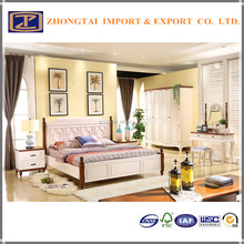 China wholesale leather bed , factory prices modern bedroom furniture, Bedroom Furniture