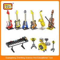 Wholesale in China, plastic intelligent construction loz nano music instruments block brick toy for adults