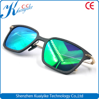 Green lens carbon fiber sunglasses frame