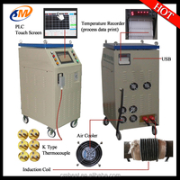 High speed working induction heat treatment machine for shaft
