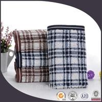 wholesale 100% cotton high quality yarn dyed check bath towel
