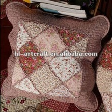 Brown Cotton 50*50cm Patchwork Cushion Cover CC-062