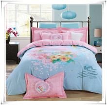 Mircofiber polyester printed fabric for bed comforter from changxing