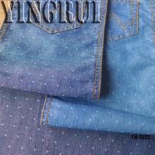 4oz cotton poly indigo color dobby denim fabric for shirt
