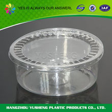 Clear pet plastic food grade round container
