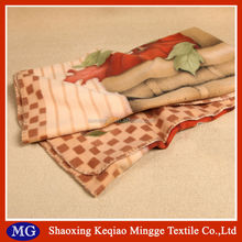 Famous Brand in cooperation Anti stretch flame retardant machine washable picnic use fleece blanket with satin trim