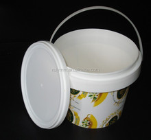 Small bucket for food with heat tranfer printing