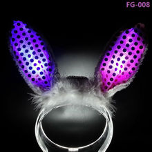 Glow in the Dark Bunny Ears LED Hair bands for Bachelorette Party Ideas