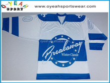 team ice hockey jersey digital sublimated printing