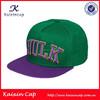 custom green snapback 5 panel cap hat flat brim snapback print casquette snapback cap