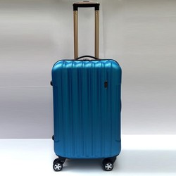 pure color suitcase cheap ABS blue luggage cheap students luggage