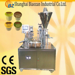 practical full automatic rotary plastic cup filling and sealing machine for jelly/cream/paste/coffee/milk/yogurt