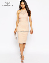 Fashion Neck Lace Dress Bodycon for Office Ladies Z4482