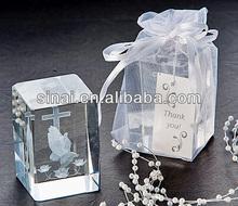 Luxury Wedding Gift / Popular K9 Crystal Gift / Souvenir Gift Crystal Cube