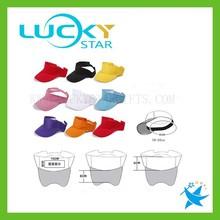 China hot custom made plastic sun visor cap wholesale 6 panel hats cap supplier