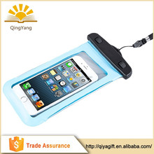 Transparent 100% pvc waterproof cell phone bag for promotional gift