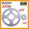 for Suzuki AX100 Motorcycle Parts Motorcycle Rear Wheel Sprocket
