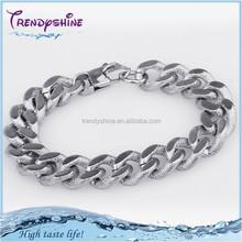 New design silver stainless steel snake bracelet