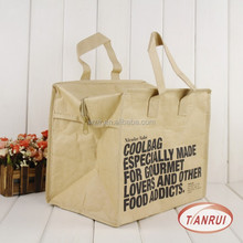 Factory sale insulated effect cooler picnic tote bag for zero degrees inner cool